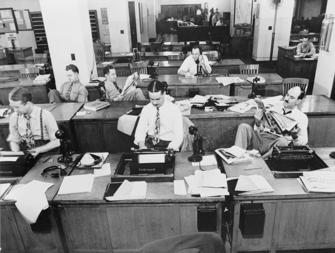 The_New_York_Times_newsroom_1942